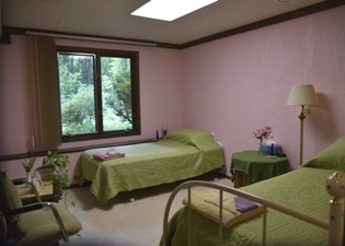 Freesia room at the Self Realization Meditation Healing Centre, Bath MI USA