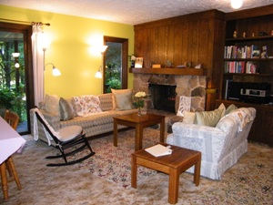Living room at the Self Realization Meditation Healing Centre, Bath MI USA