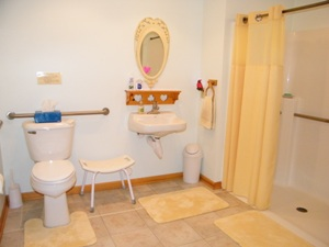 accessible bathroom at the Self Realization Meditation Healing Centre, Bath MI USA